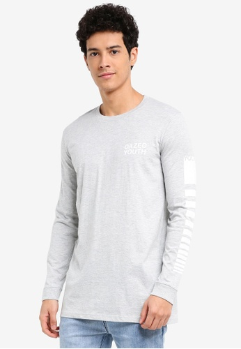 Factorie grey Long Sleeve Amped Tall Tee 614F4AA7799622GS_1