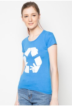 Ladies Rock Paper Scissors Recycled T-Shirt