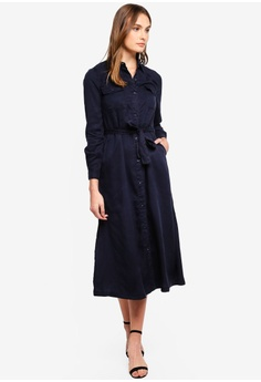 d3105d3b303 50% OFF French Connection Tandy Lyocell Tie Waist Shirt Dress RM 545.00 NOW  RM 273.00 Sizes 6 14