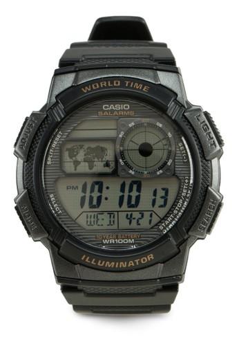 Casio black Casio Jam Tangan AE1000W-1AVDF Hitam 7891FAC0454F32GS_1