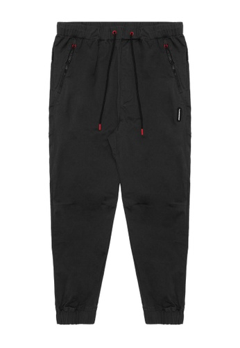 Fingercroxx black Tape joggers 1A2F7AAF8B8170GS_1