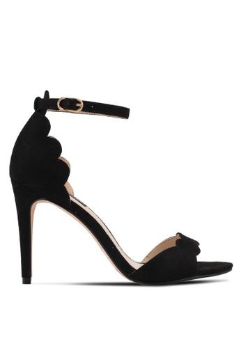 ZALORA black Scallop Detailed High Heels 4A61CSHDE2E656GS_1