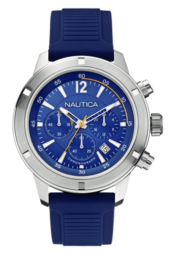 NAUTICA navy Nautica New York NST 11 Blue Silicone Strap NA146AC70OBHSG_1