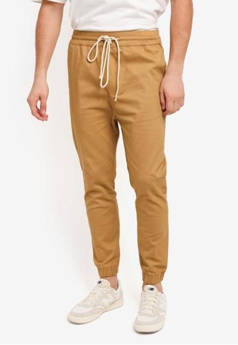 Flesh IMP beige Yager Side Pocket Jogger Pants 111D2AABFE919BGS_1