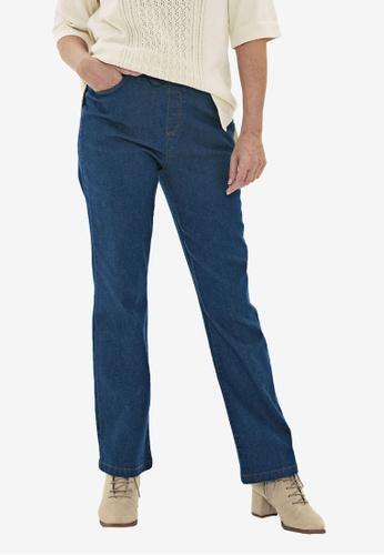 LC Waikiki blue Elastic Waist Straight Leg Jeans 37957AAB350CD6GS_1