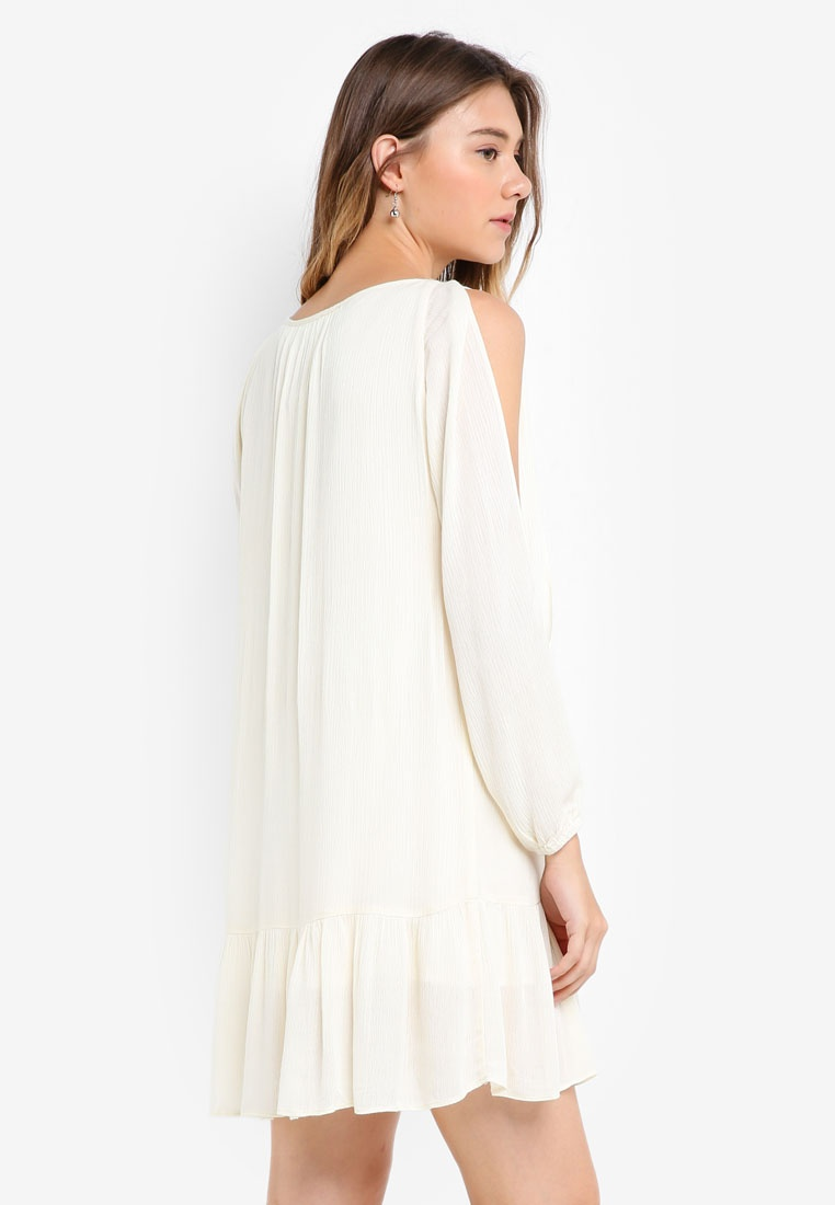 Cream Embroidered Dress Sleeve Borrowed Something Slit xqwa6d
