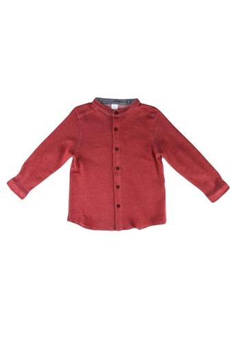 LC Waikiki pink Baby Boy's Grandad Collar Shirt 498C0KAC0DB671GS_1