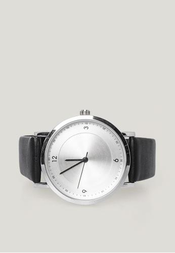 OXGN black Analogue Watch With PU Leather Strap B59B7ACE714049GS_1