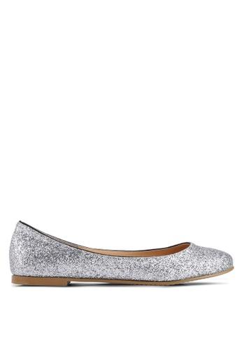 4a934b3e9096 Heatwave silver Glitter Ballerina Flats 3AA2CSH138A8F8GS 1