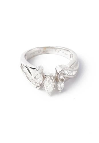 CEBUANA LHUILLIER JEWELRY silver 14 Karat White Gold Lady Ring With Diamonds 0995CAC3EBA7B0GS_1