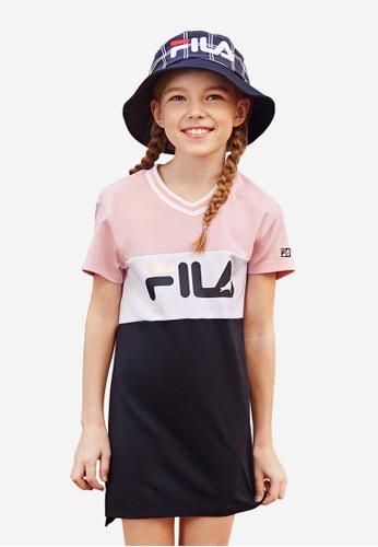FILA pink FILA KIDS FILA x STAPLE Logo Colour Blocks Dress 8-15yrs 0BC2DKAD723E64GS_1