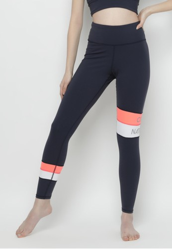 Corenation Active white and orange and navy Maureen Legging Premium - Navy / Orange / White 65852AA7D12A21GS_1