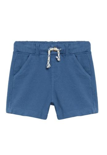 MANGO BABY blue Organic Cotton Bermuda Shorts FABDAKA0B2D651GS_1