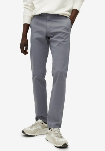MANGO Man grey Slim Fit Chino Premium Trousers F093FAA2D78D42GS_1