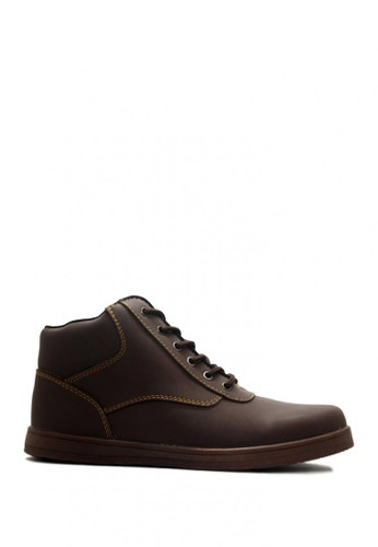 D-Island brown D-Island Shoes Ventura Bootts Comfort Leather Dark Brown DI594SH0VOGAID_1