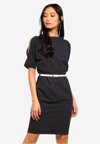 CLOSET black Open Shoulder Pencil Dress 833A9AA2AAEF3CGS_1