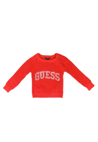 Guess orange Guess Logo Sweater FC363KAC8DE5C7GS_1