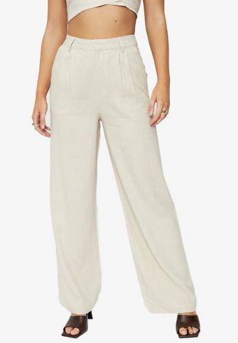 Supre beige Kendall Wide Leg Pants CBD86AAB73A577GS_1