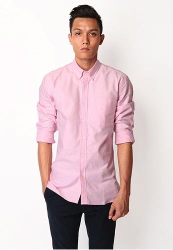 A for Arcade pink Cotton Oxford Shirt in Pink 6D1ECAA376E276GS_1