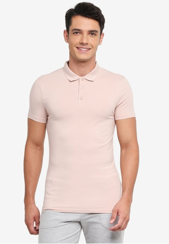 Topman pink Pink Ultra Muscle Fit Polo F0B81AA197719BGS_1