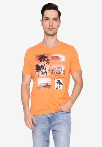 OVS orange Tropical T-Shirt 0DE36AAEFA4CDBGS_1