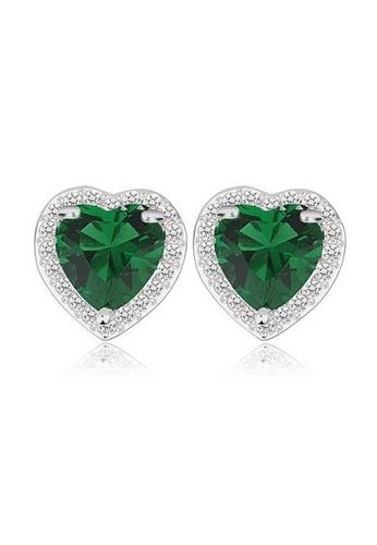 Vivere Rosse green Love in Paris Diamond Simulant Stud Earrings - Emerald VI014AC97SQCMY_1
