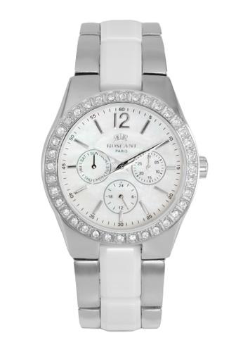 Roscani silver Roscani Evelynn 919 (Multifunction + WR 5ATM) Stainless Steel White Bracelet Women Watch 68D5CAC6F763E9GS_1