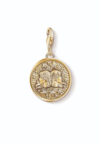 "THOMAS SABO gold Charm pendant ""zodiac sign Gemini 41709AC99B4C30GS_1"