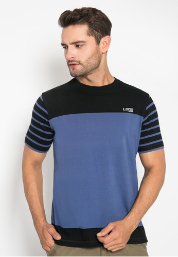 LGS black and blue Slim Fit - Kaos Casual - Model 2 Warna - Warna Biru/Hitam 8B4ADAAED6BCADGS_1