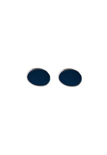LYCKA blue LDR1277 S925 Silver Elegant Classy Stud Earrings 63FF2ACD3198D2GS_1