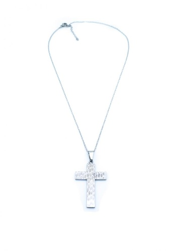 Silverworks silver Hammered Cross  Necklace D4EB2ACC82DF81GS_1