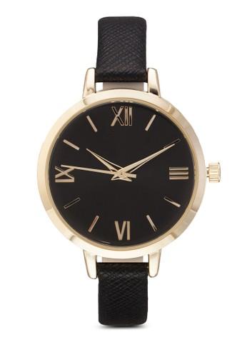 esprit 品牌暗紋細仿皮圓錶, 錶類, 飾品配件