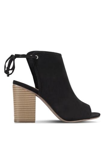 Dorothy Perkins black Black Shone Ankle Tie Sandals DO816SH72ZWPMY_1