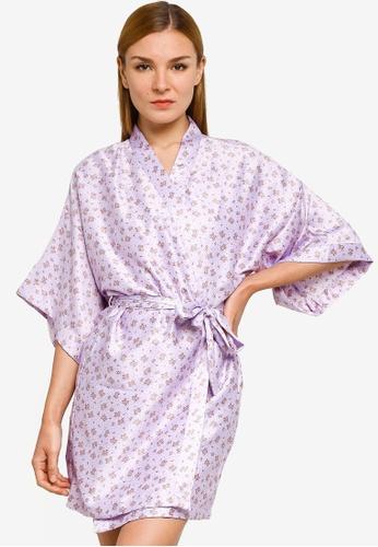 Cotton On Body purple Satin Robe A0C70AAAD39571GS_1