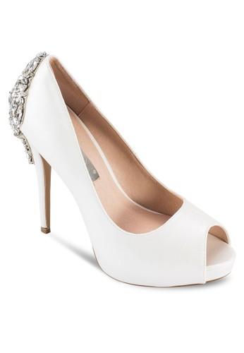 Belair 閃飾露趾厚底高esprit香港分店跟鞋, 女鞋, 鞋