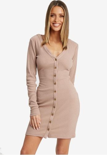 Calli pink Nisha Button Dress 8B7EBAA77F3460GS_1