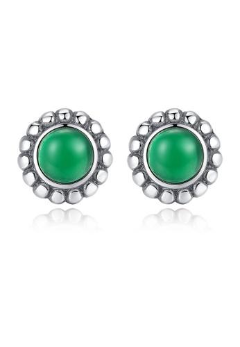 SUNRAIS silver High quality Silver S925 silver simple design earrings 030C7AC3BF40D7GS_1