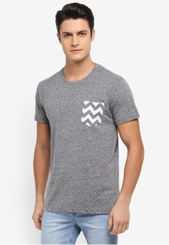 Cotton On grey Textured Pocket Tee 7165CAA0E60CAFGS_1