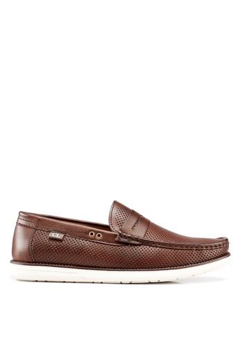 Carlton London brown Slip On Loafers 0AA45SHD7B0643GS_1