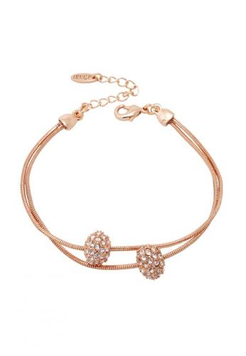 18k Rose Gold Bracelet With Austrian Crystal Ornaments