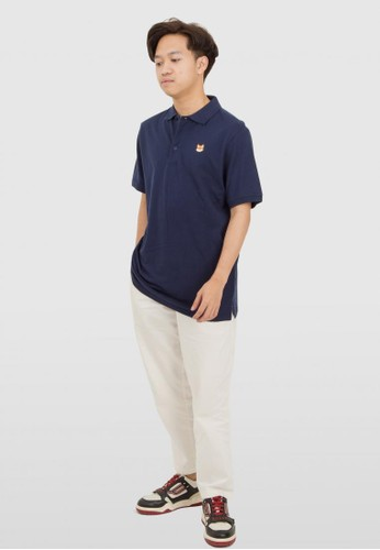 THE GOODS DEPT blue and navy Fuku - Poroshatsu Polo Shirt Navy D40ADAACEA6778GS_1