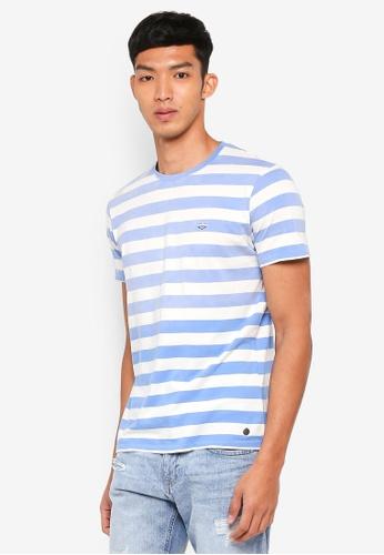 ESPRIT blue Striped Short Sleeve T-Shirt 61C8BAAA7542CDGS_1