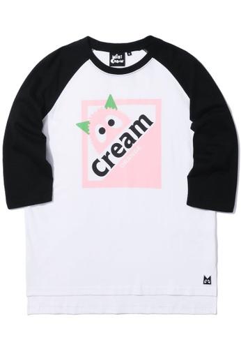 Mini cream black Graphic logo raglan tee 0EEDCAAAE185DFGS_1