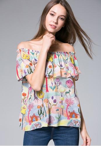 Silk Crepe Top Printed Top Colorful Printed Colorful Silk Colorful Crepe rdxsBtChQ