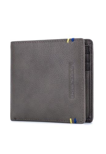 ENZODESIGN grey Two Tone Grey Color 14 Card Slots Top Grain Soft Calf Leather Bi-fold Wallet FAD30ACEC20C14GS_1