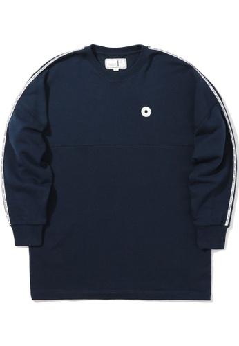 :CHOCOOLATE navy Logo tape sweatshirt 93667AAD79C44CGS_1