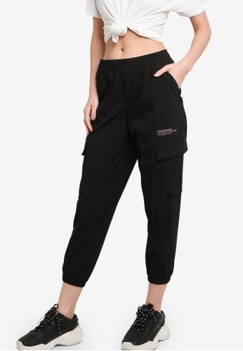 361° black Sports Life Cropped Pants 77DD1AA8C888BBGS_1