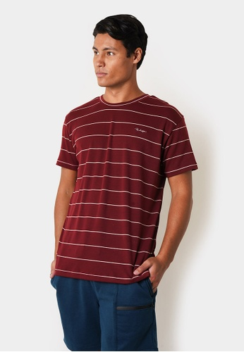 Penshoppe red Striped Relaxed Tee D2C88AAE00168FGS_1