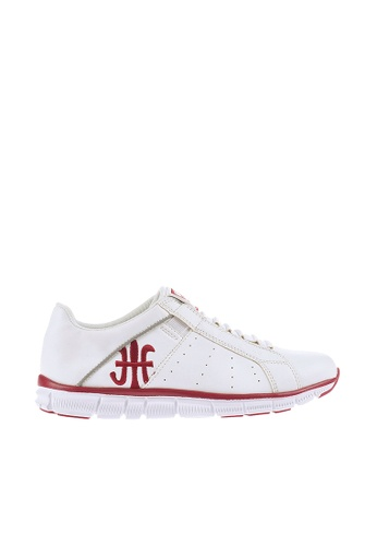 Royal Elastics 白色 and 紅色 Zephyr 輕量休閒鞋 RO796SH099IZTW_1