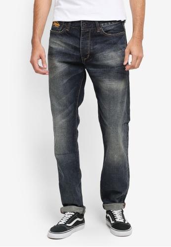 Superdry blue Biker Jeans SU137AA0T22KMY_1